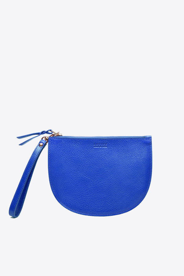 Lotuff Round pouch wristlet in electric blue
