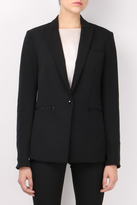 Veronica Beard Scuba Jacket Black