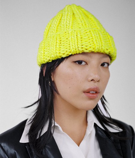 Clyde Fold Hat - Neon Yellow