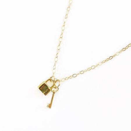Bijoux B Lock & Key Necklace - 14k Gold Filled