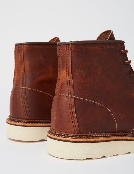 Red Wing Shoes Leather Moc Toe Boot - Copper Rough/Tough Brown