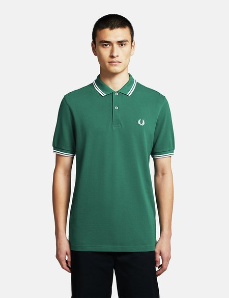Fred Perry Twin Tipped Polo Shirt - Raf Green