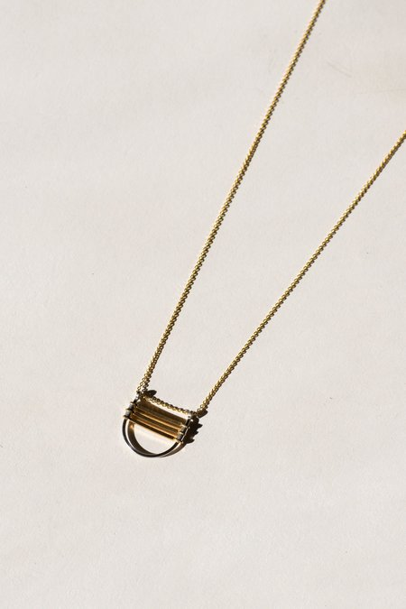 Jenevier Blaine Ladder Necklace - Gold plated