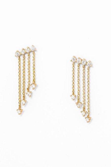 Pade Vavra Shooting Star Diamond Dangle Earrings - 14K Yellow Gold