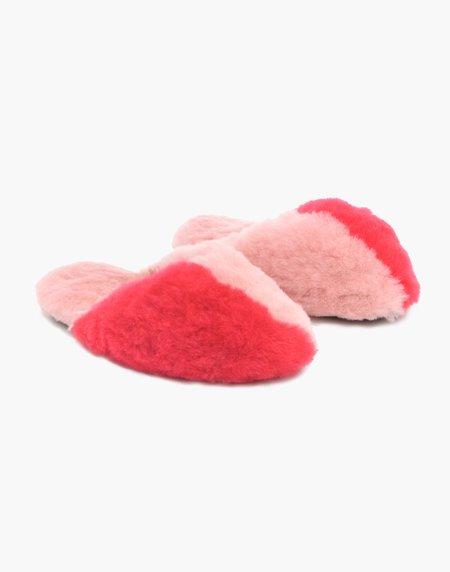 Ariana Bohling Leni Alpaca Slipper - Pink