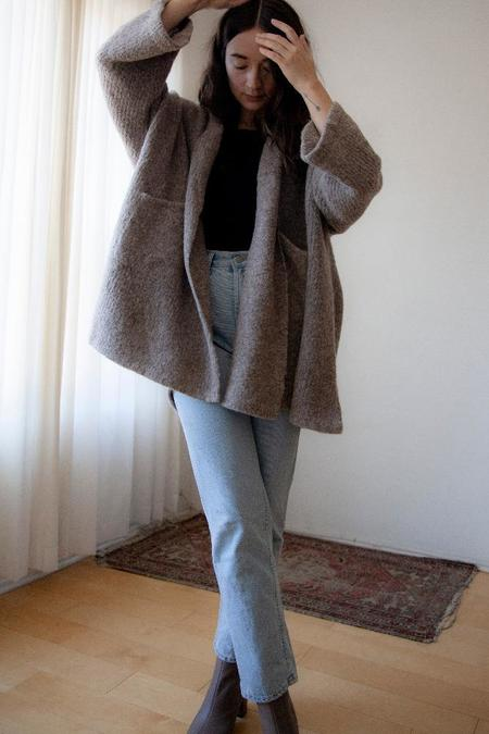 Atelier Delphine Haori Alpaca Coat - Deer