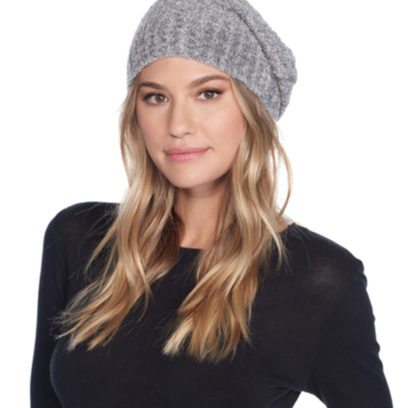 Barefoot Dreams Cozy Chic Ribbed Beanie - Heather Pewter/Ash