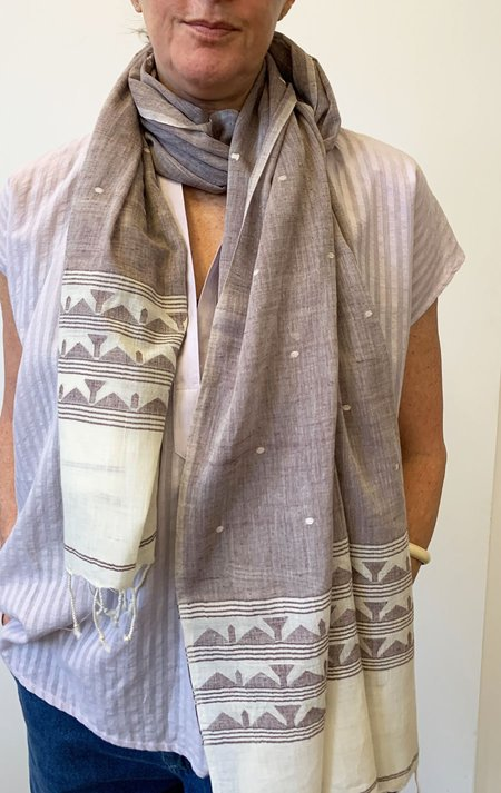 SOURCERY Jamdani cotton scarf - Jamdani