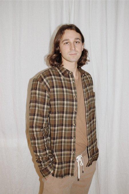 Corridor Fuzzy Olive Flannel Shirt