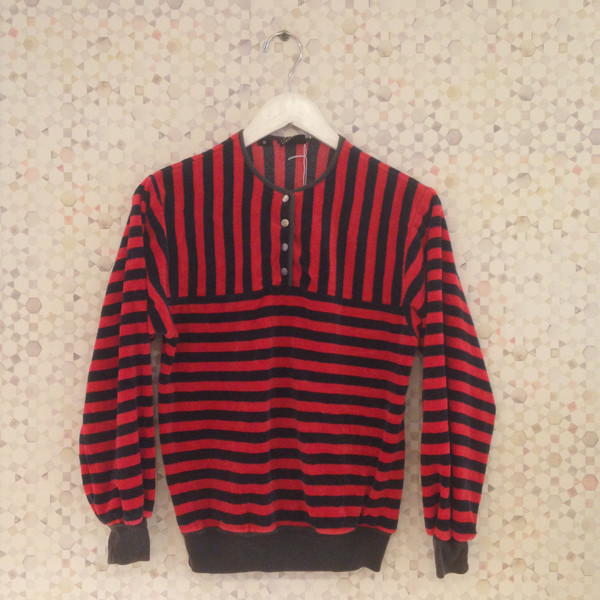 Darling Vintage Vintage Liz Claiborne Velvet Striped Sweatshirt