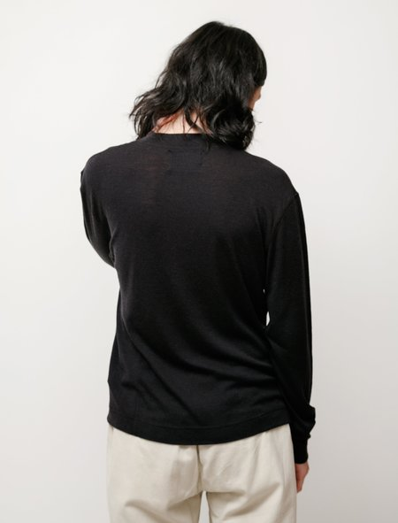 Margaret Howell MHL Thermal Wool Jersey T-Shirt - Ink