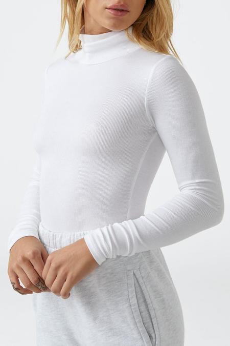 Joah Brown West End Long Sleeve Turtleneck Tee - White rib