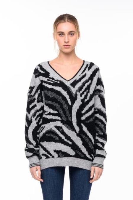 John + Jenn Ryker Sweater - Gray/Black