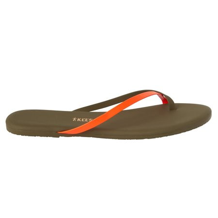 TKEES Riley Flip Flops - Neon Orange