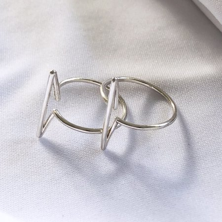 Metalepsis Projects Infinity Bar Ring - Sterling silver