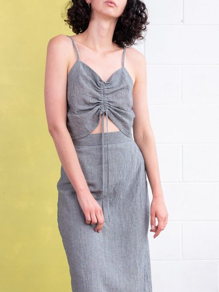 FME Apparel Drawstring Cami Top - Houndstooth