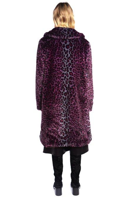 Anna Sui Leopard Faux Fur Coat - Espresso