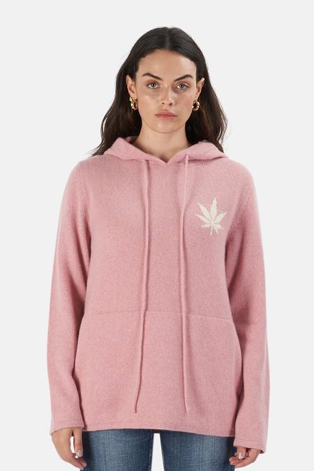 Harden x Blue&Cream Leaf Hoodie Sweater - hot Pink/White