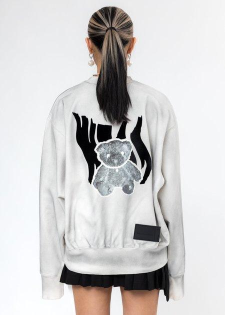 we11done Glow In The Dark Teddy Sweater - Ivory