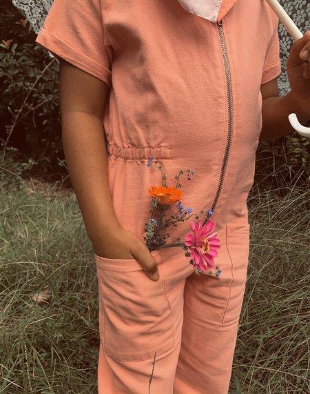 Kids Noble Organic Utility Suit - Pink Sea Salt