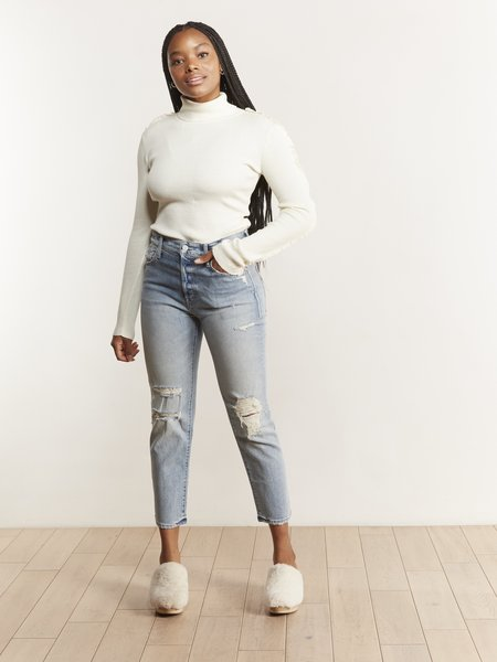 Mother Denim The Scrapper Ankle Jeans - Wicked Wild Calling