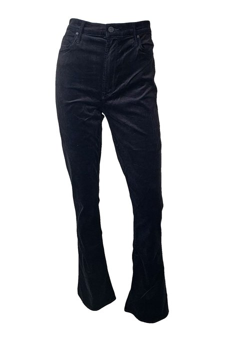 Mother Denim High Waisted Runaway Velvet Jeans - Soft Skills