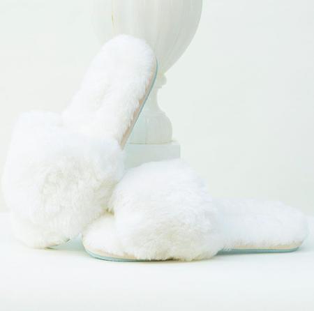 Casa Clara Frankie Slipper - White