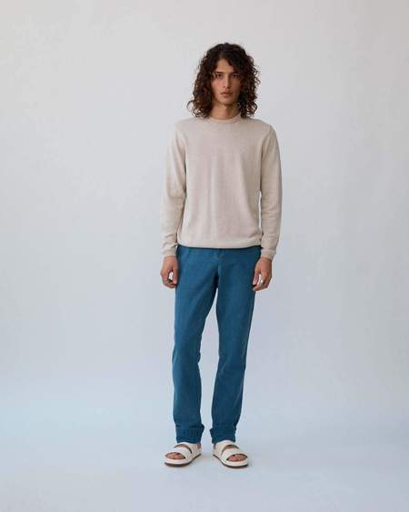 Corridor Double Yarn Crewneck - Natural