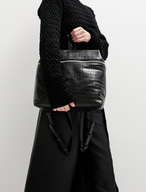 Kara Womens Embossed Crocodile Backpack