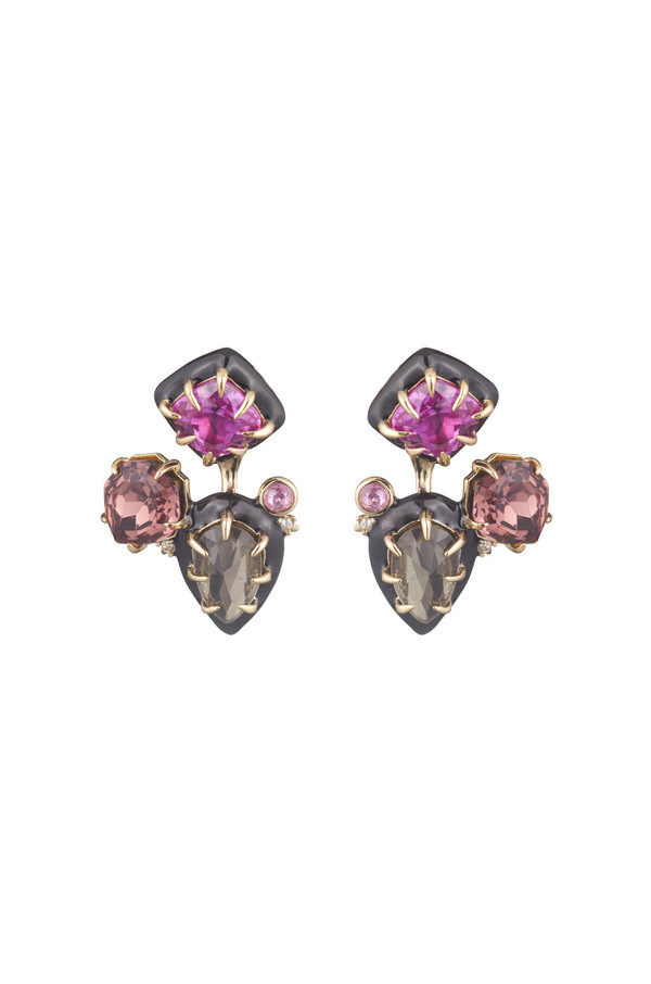 Alexis Bittar Gemstone Stud Removable Ear Jacket Earrings