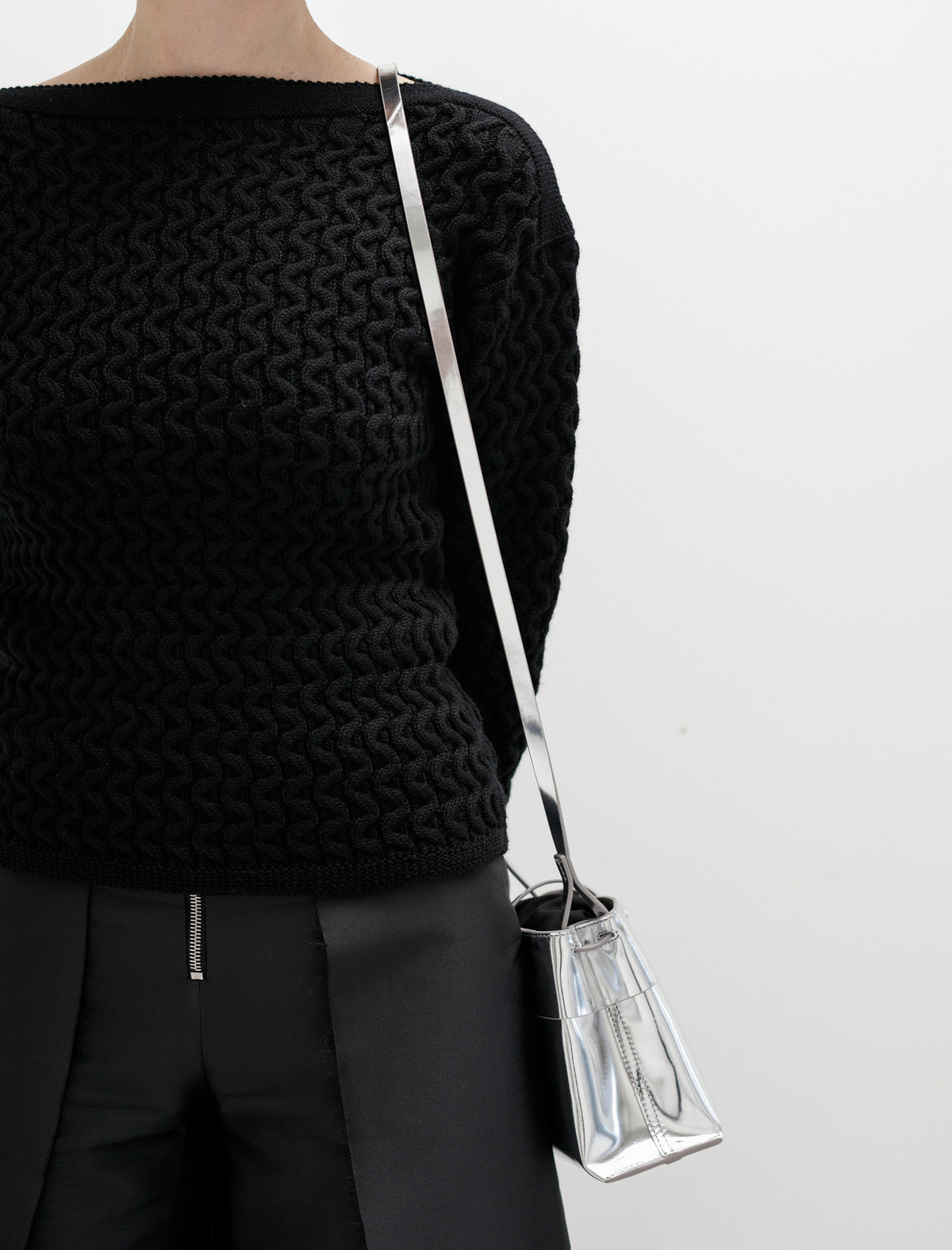 Womens Tie Leather Crossbody Bag Kara oGypHAmWB