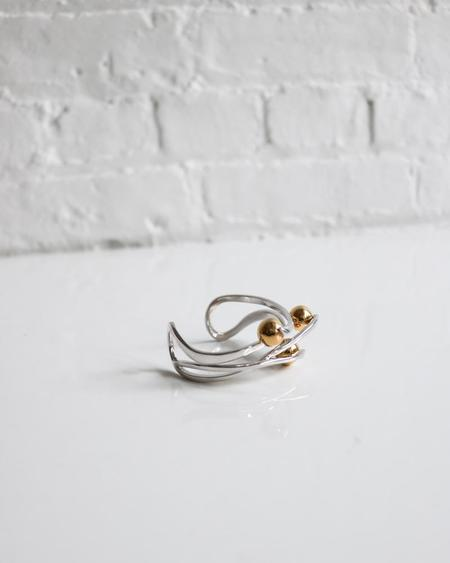 [Pre-loved] Sarah Magid Intertwined Bauble Cuff - Silver