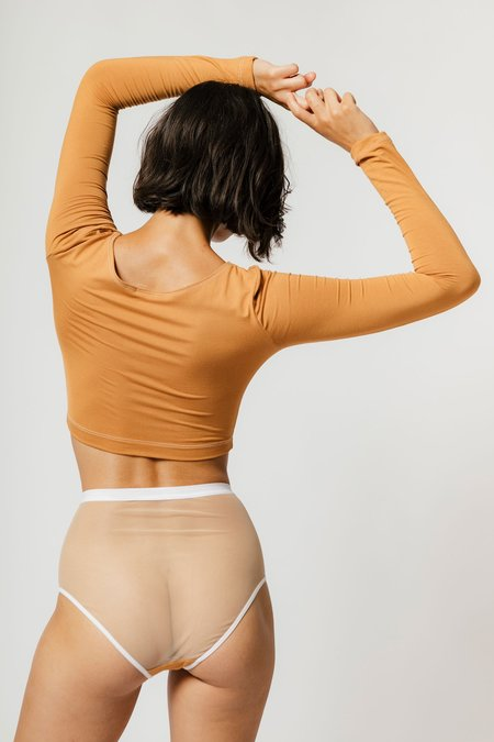 Mary Young Lux High Waist Brief - Caramel
