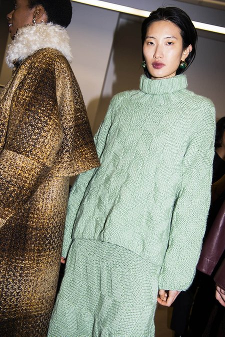 Rachel Comey Misura Sweater - Light Green Chunky Chevron