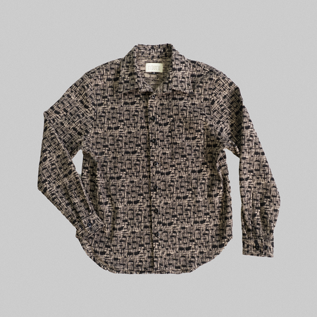 Reborn Garments Tweed Overshirt - Sand