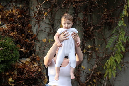 KIDS Pearle Knits Baby Leotard - Black/White