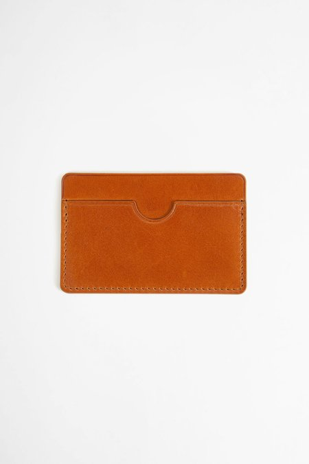 Del Barrio Flat card holder - brown