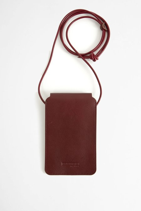 Del Barrio Leather phone pouch - burgundy