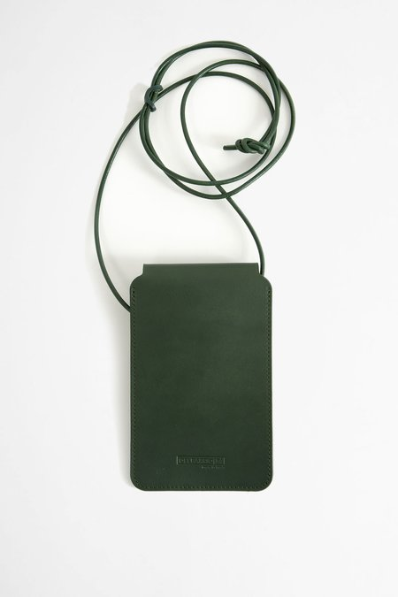 Del Barrio Leather phone pouch - green