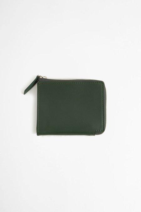 Del Barrio Zip around leather wallet - green