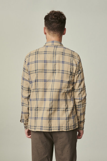 Delikatessen Strong Shirt in Fine Japanese Checkered Cotton Flannel