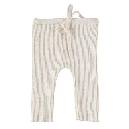 KIDS Pequeno Tocon Baby Ribbed Leggings - Natural Cream