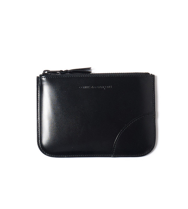 Comme Des Garçons Wallet Black Pouch Wallet with Lizard Lining