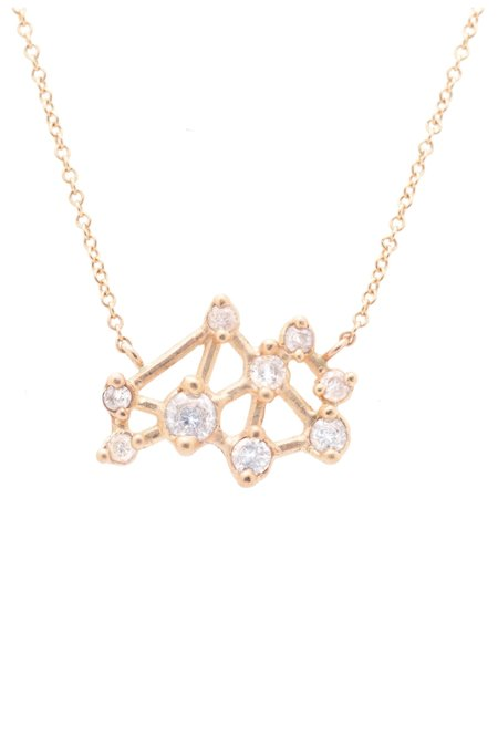Valley Rose Seven Sisters Necklace - White Sapphire