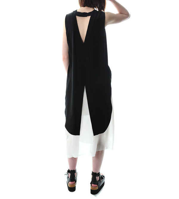 Public School Black Sleeveless Tunic