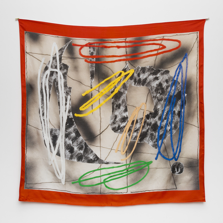 Massif Central silk satin Scarf by Trudy Benson