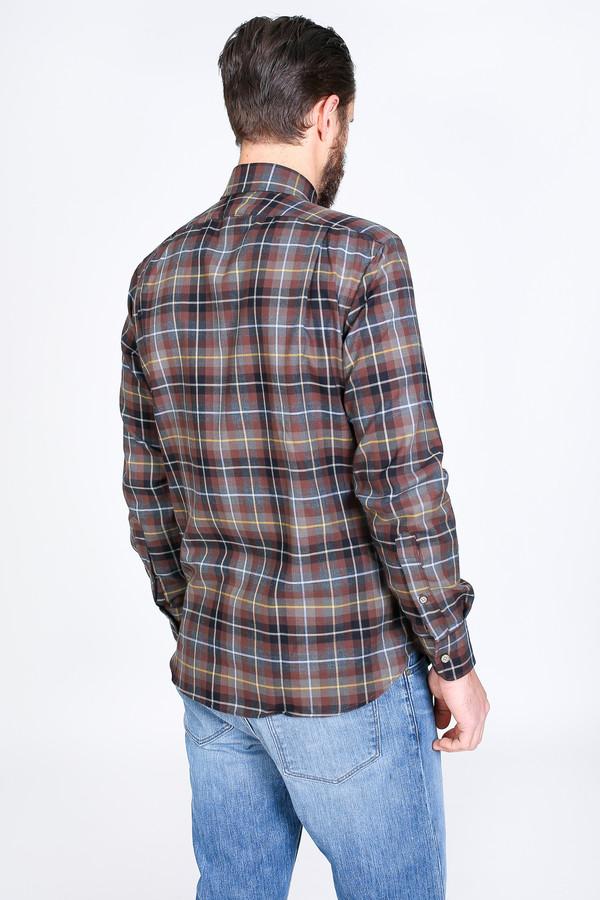 Men's Vert & Vogue James Button-Up in Brown Plaid