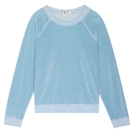 amo denim Velour Sweatshirt - Sky