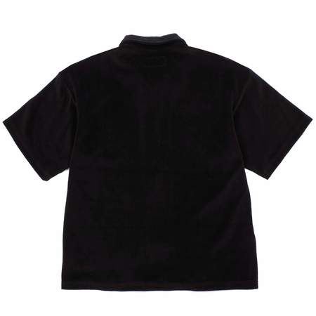 Noon Goons PRACTICE VELOUR ZIP SHIRT - BLACK