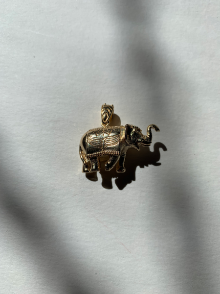 Tidy Street General Store Elephant Pendant - Gold Plated Brass